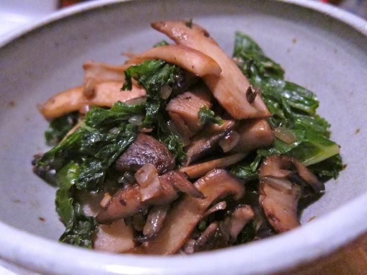 Mushroom and Kale Saute