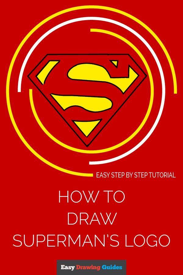 How To Draw Superman Logo Superman Pinterest Superman Drawing