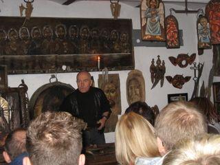 spotkanie z  artystą malarzem Zdzisławem Pękalskim : fot przewodnik Maria Tercha