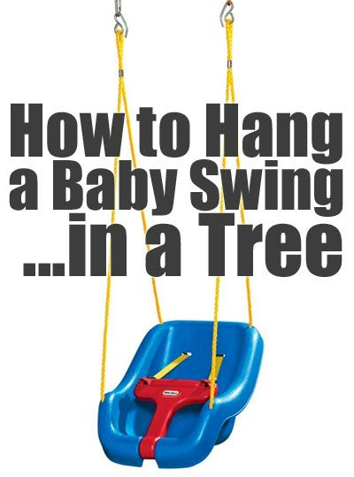 How to Easily Hang a Little Tikes Outdoor Baby Swing in a Backyard Tree with a Removable, Portable 2-Strap Swing-Hanging Kit.
