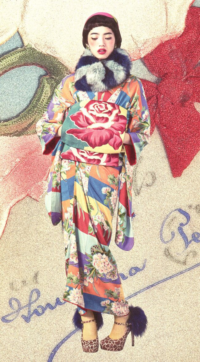 A true Kimono Princess uses every accessory – shoes, sox, purse, wrap, hat, gloves – to flaunt convention in some subtle way.