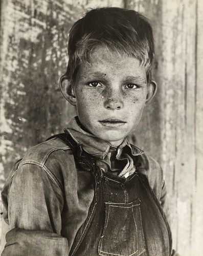 Eyes of the Great Depression: Twelve year old son of a cotton sharecropper near Cleveland, Mississippi. 1937 June.    photographer: Dorothea Lange