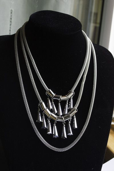 Statement Necklaces – Handcrafted Mixed metal Crystal Statement Necklace – a unique product by unikacreazioni-artisan on…