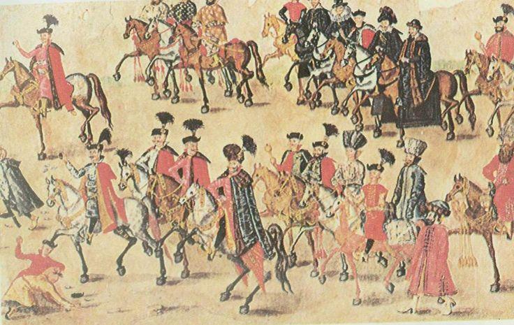 Rulon polski, ok. 1605r. /fragment/ źródło: http://www.kismeta.com/diGrasse/Rolka/rolembassy.jpg