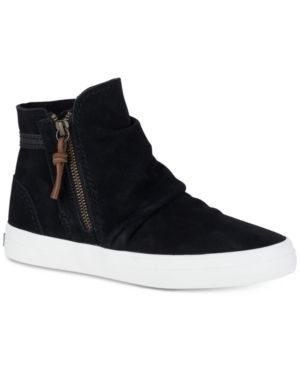 Sperry Women's Crest Zone High Top Sneakers - Black 8.5M