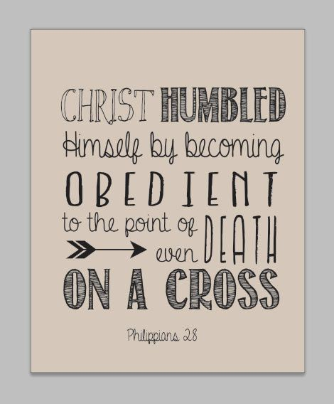 Philippians 2:7-8 Bible Verse Scripture Wall Decor by Grace And Growing, $26.00