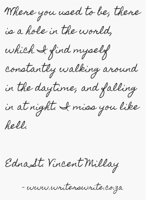 love is not all by edna st vincent millay Edna st vincent millay's poetry has been eclipsed by her personal life - let's change that  frenetic movements of the heart that falls in love and then out of it renascence and other poems.