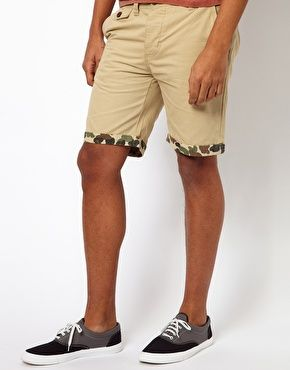 Enlarge Bellfield Chino Short With Camo Turnup