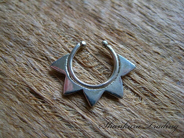 Star Silver Septum Ring, Unique Septum Jewellery
