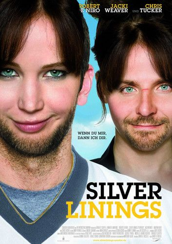 Silver linings playbook, jennifer lawrence and bradley cooper face swap.  @LauraNit!!!!  This is disturbing yet hilarious!  (really funny that they both have jens hair and bradley's chin!)
