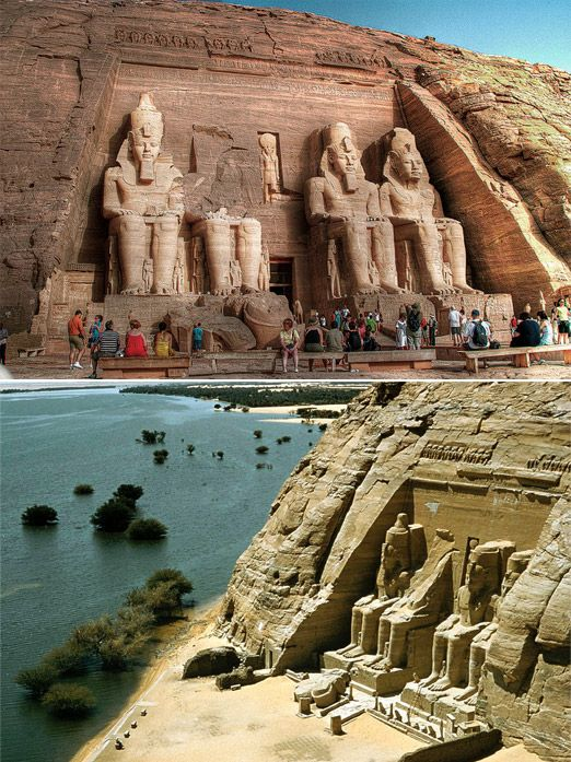Abu Simbel - Egypt - In 1255 BC Rameses and his queen Nefertari traveled into Nubia to inaugurate a new temple, the great Abu Simbel.
