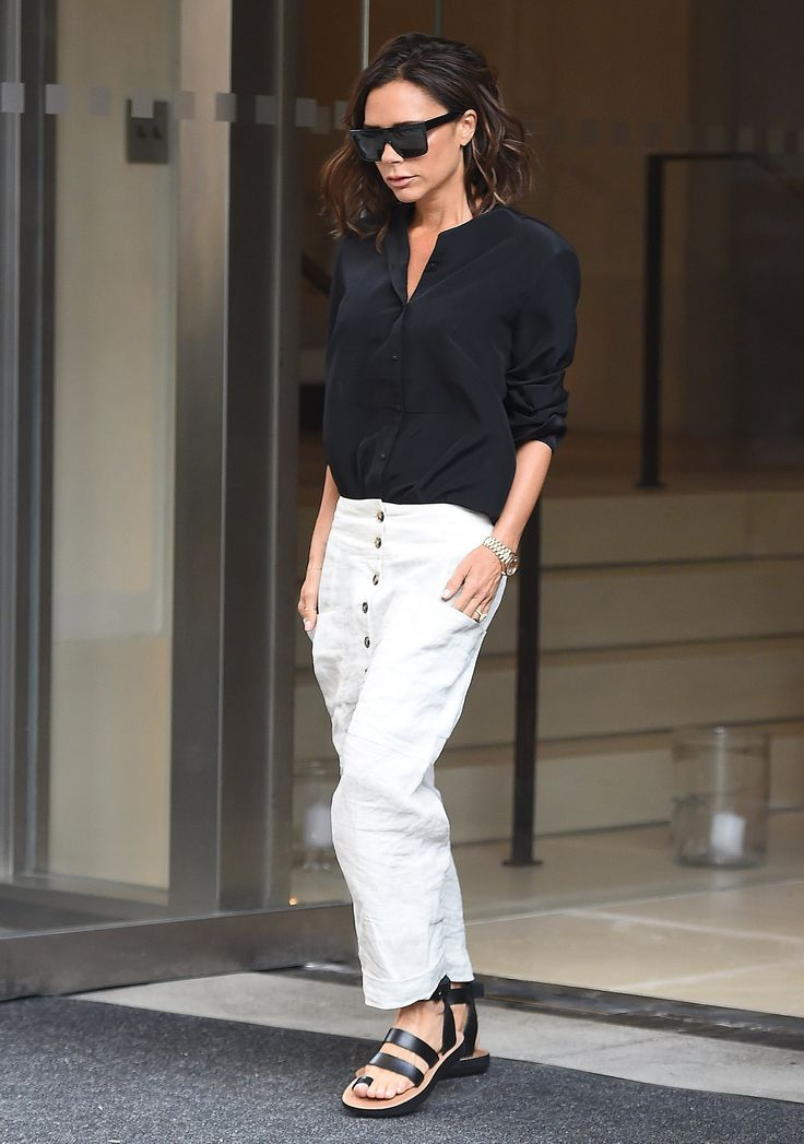 Victoria Beckham has gone a more tomboyish route with her style.
