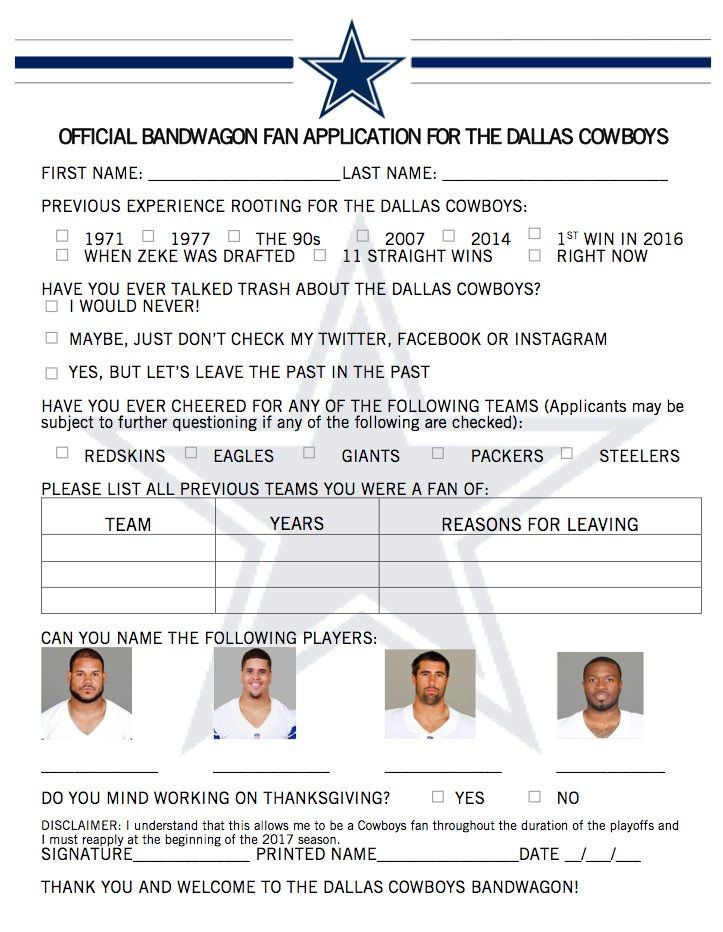 May not be my team but this is funny. #NFL #Cowboys #playoffs #bandwagonapplication