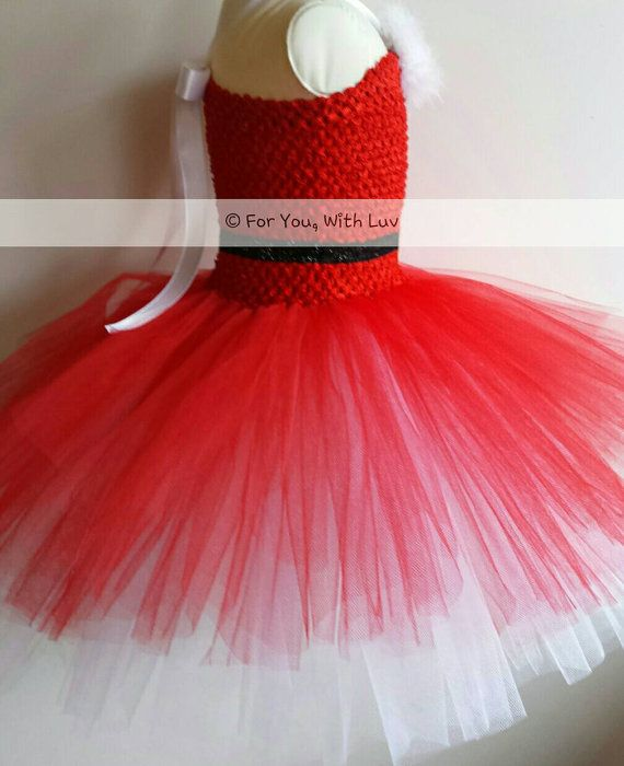 Red and White Santa Christmas Tutu Dress