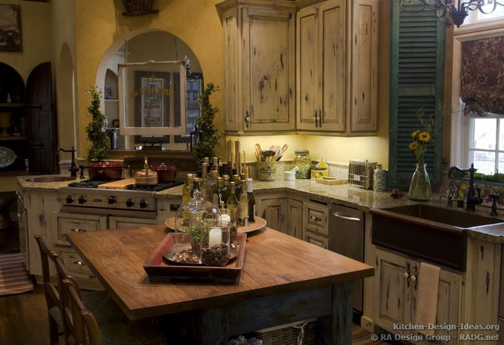 #Kitchen Idea Of The Day: French Country Kitchens.