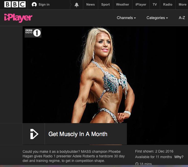 GET MUSCLY IN A MONTH - In this 20 min documentary, BBC Radio 1 presenter Adele Roberts follows a hardcore 30 day diet and training regime to join the millions of women training to be STRONG, not skinny. #GetMusclyInAMonth