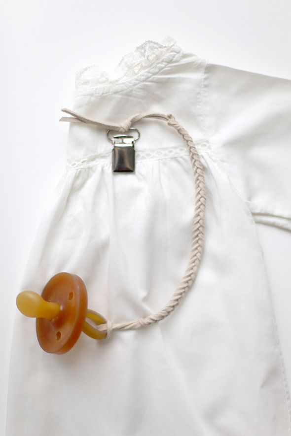 DIY on Say Yes: Braided Leather Pacifier Clip — SUN + DOTTER