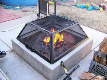 how to make a fire pit screen - Google Search