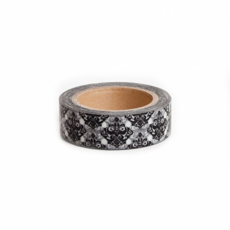 Black Damask Washi Tape - Decorative Damask Tape NEW! [Black Damask Washi Tape] : Wholesale Wedding Supplies, Discount Wedding Favors, Party Favors, and Bulk Event Supplies