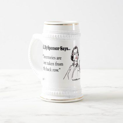 #Inventories are best taken from the back row. beer stein - #drinkware #cool #special