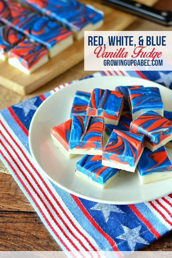 fourth of july vanilla cupcakes