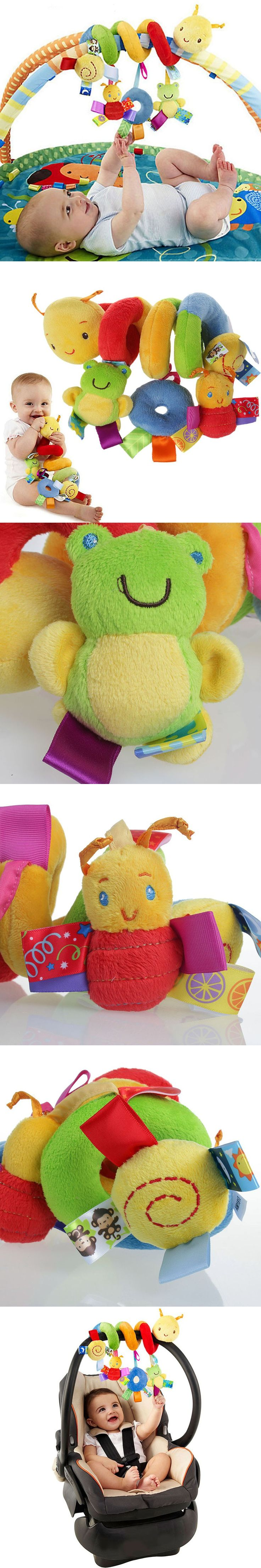 Special enclosed crib for premature babies - Lovely Cartoon Animals Baby Toys Newborn Plush Colorful Educational Rattle Mobiles Toys Infant Bed Sheep Hanging