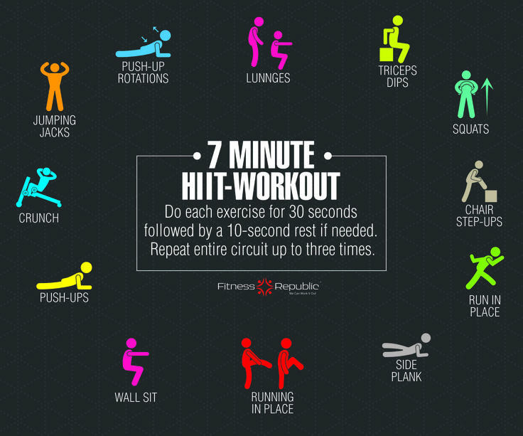 7 Minute HIIT Workout | Burn calories, 7 minute workout ...