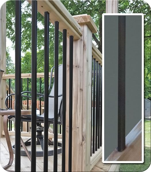 Iron and Wood Railing| Fence-All
