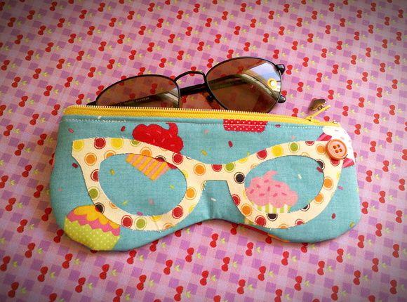 Porta Óculos Blue Cupcakes                                                                                                                                                     Mais