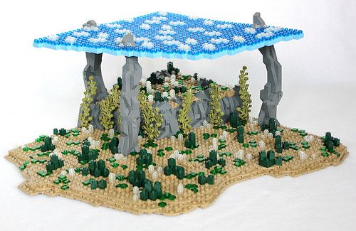 Tutorial on how to build a natural irregular base with wedge plates for your LEGO creations.