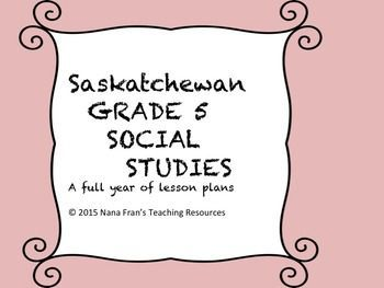 Ten units cover the full curriculum for Grade 5 Social Studies in Saskatchewan. Although the units are written to match the outcomes for the curriculum in this province they can be used by any teacher for instruction related to Canadian history. The units covered in this bundled resource can also be purchased individually.