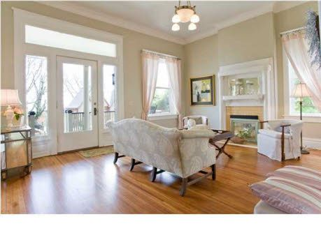 Benjamin Moore's Grant Beige. Just painted my dining room this color. Living room tomorrow. Love it! Check out this blog for best pick paint ideas.