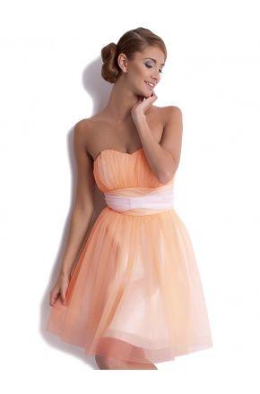 Koktajlowa sukienka z szyfonu na wesele KM62