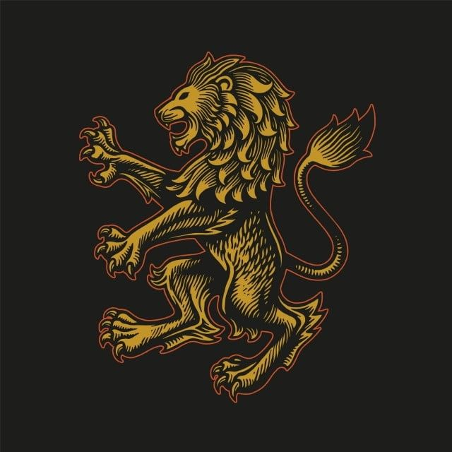 Gold Lion Kingdom Classic Illustration Vector Lion King Clipart Aggressive Anger Png And Vector With Transparent Background For Free Download Gold Lion Lion Kingdom Lion