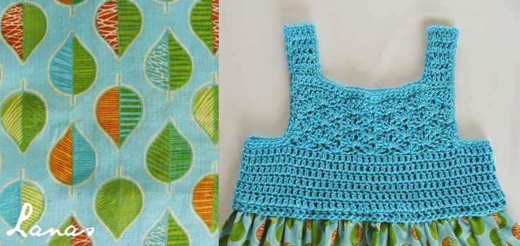 (Crochet)     Here is the second cotton dress for a 3-year old girl (see the first here: Summer Dress )…   Aquí les muestro el segundo vest...