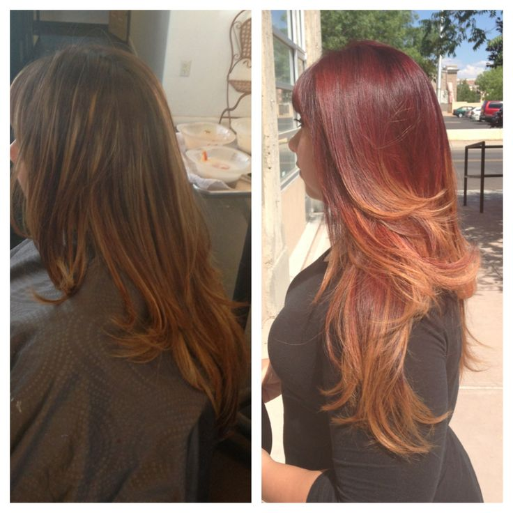 RedHeaded Ombre using Wella Color!
