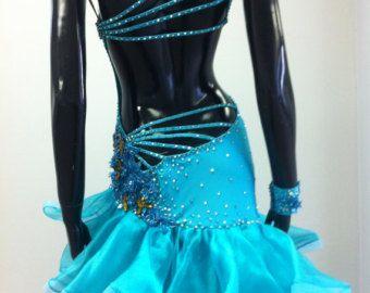 Oro ballo abiti da ballo latino abiti oro e di DesignByNatasha