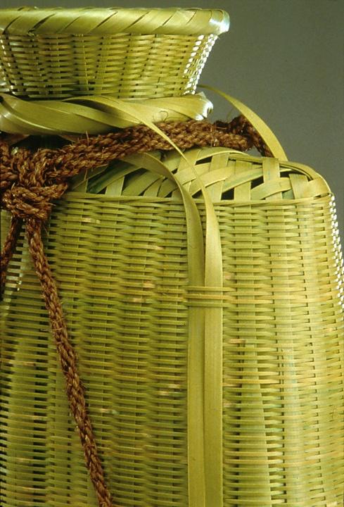 Fishing creel detail, by Hiroshima Kazuo, a basket maker of rural Kyushu, Japan www.huntingtonarchive.osu.edu