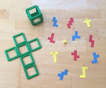 Nachdem ich mit den KindernKantenmodelle gebaut habe und wir so handlungsorientiert Ecken und Kanten der verschiedenen Körperformen bestimmt haben, schauen wir uns im nächsten Schritt die verschieden