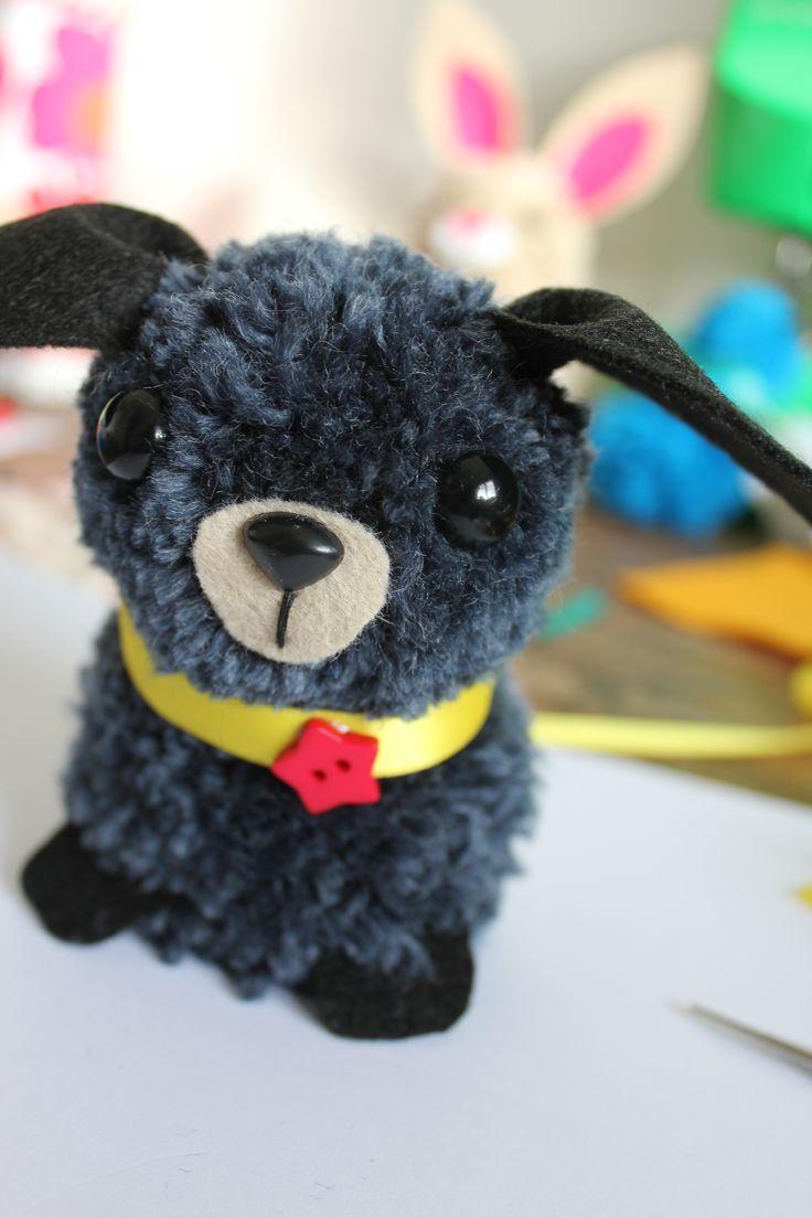 1000 ideas about pom pom puppies on pinterest pom pom for Pom pom puppy craft