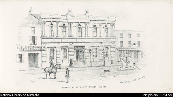 Sydney Mechanics' School of Arts, Pitt Street, Sydney Gill, Samuel Thomas, 1818-1880.  Collection of the National Library of Australia