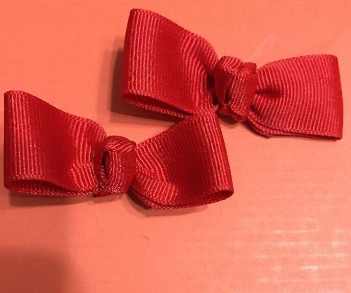 2 Ponytail Holders - Solid Poppy Red  | eBay