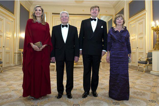 Le diner d'etat du couple Presidential par leur hote le Couple Souverain Neerlandais