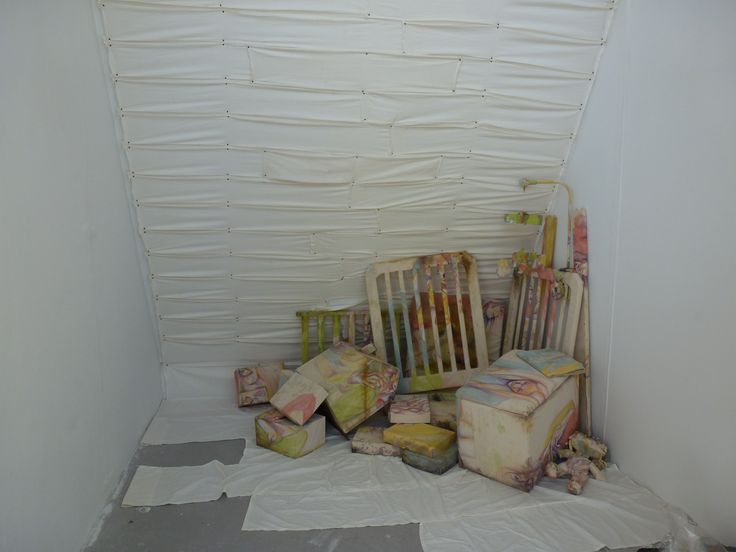 Jaime Cowdry. Degree show installation, oil on canvas and found objects. June 2012.