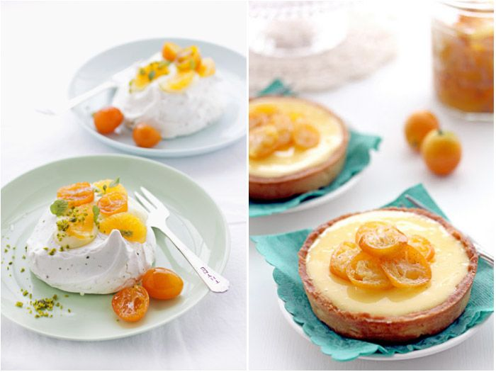 Kumquat Pavlova / Lemon Tart w/ Kumquats | delish | Pinterest