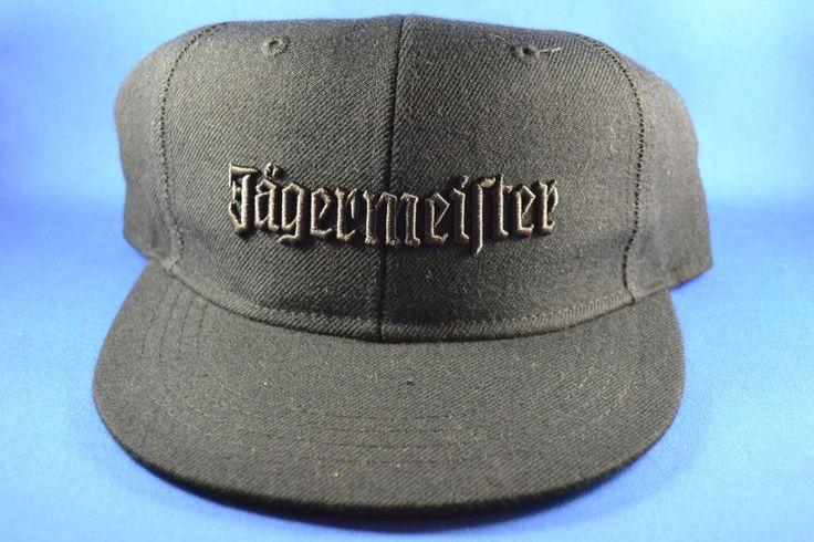 4a5781f4e83 Jagermeister Baseball Hat Size L   XL Black Non-Adjustable - Brand NEW!