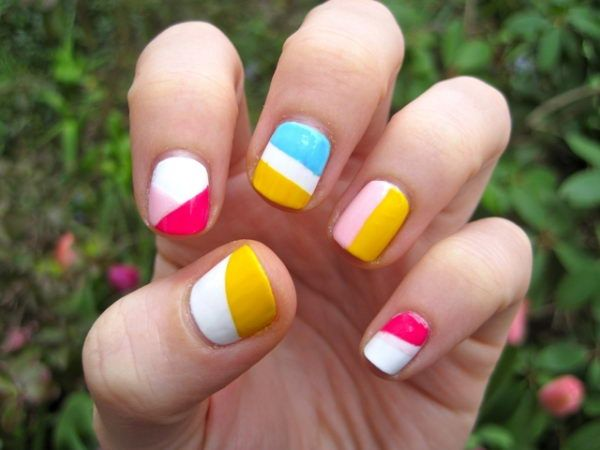 The 25 best color block nails ideas on pinterest new jins top cool color block nail designs prinsesfo Image collections