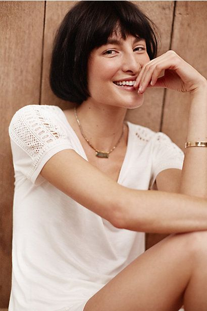 Lace-Trimmed Tee #anthropologie