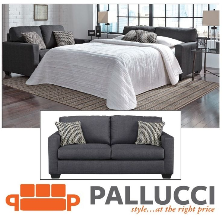 Avery Double Sofa Bed with Memory Foam Mattress only $999 including tax & free local delivery! https://www.palluccifurniture.ca/avery-double-sofa-bed-grey/