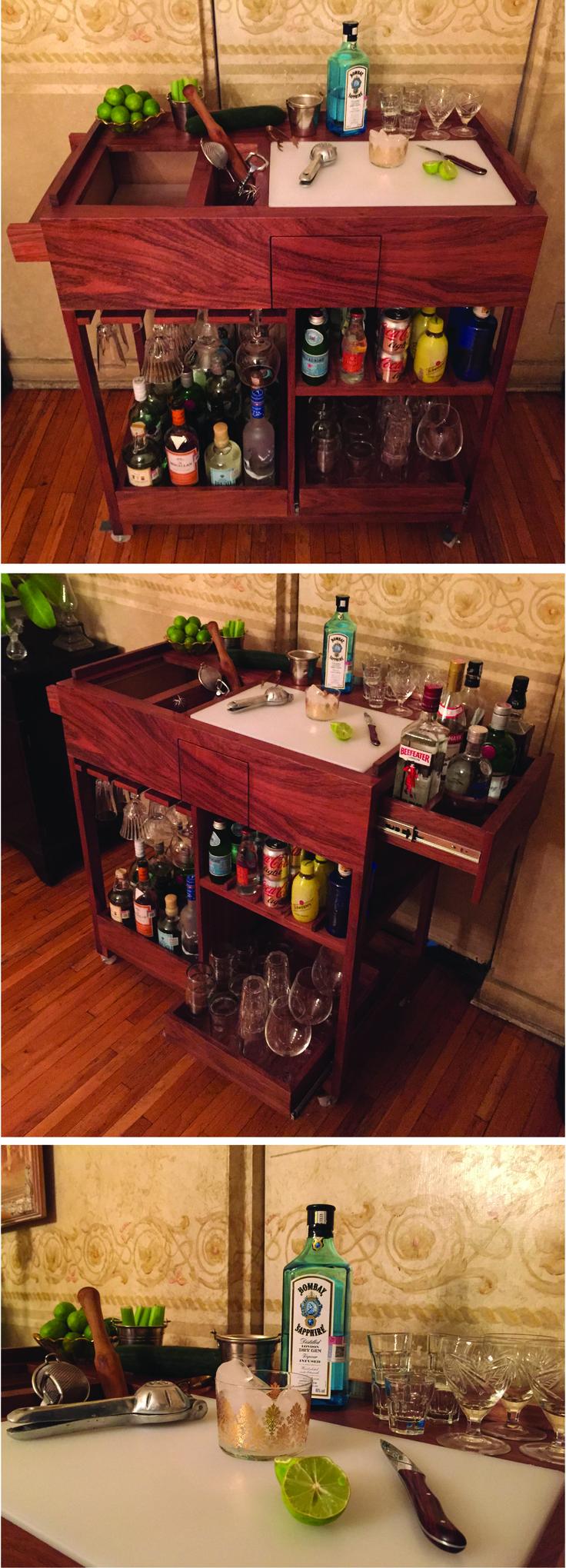 27 Best Videos De Muebles Cocina Images On Pinterest Kitchen Pro Design Roma Sideboard 2 Pintu 3 Laci Espresso Service Bar Cart Original By Plan J Handmade In Mexico